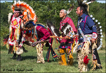 Four Meskwaki Dancers