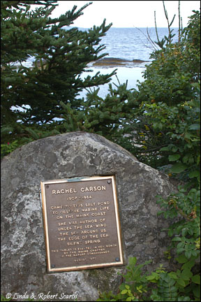 Plaque at Rachel Carson Salt Pond Preserve