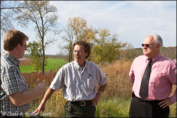 Discussing climate change and the Hawkeye Wildlife Area
